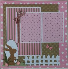 Easter  Spring  Baby  premade scrapbook layout by ohioscrapper