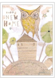 Items similar to bird with acorn, folk painting - autumn- thanksgiving- wall art - a limited edition, archival print by cori dantini, 5 x 7 on Etsy Happy New Home, Whimsical Owl, Home By, Owl Pictures, Colorful Wall Art, Sketch Inspiration, Owl House, Owl Art, Wire Art