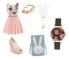 """""""Happy Easter!!! """" by nerdyredd ❤ liked on Polyvore featuring Jessica Simpson and Olivia Burton"""