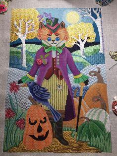 Brenda Stofft needlepoint steampunk fox canvas