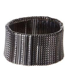 This Silvertone Wide Stretch Bracelet is perfect! #zulilyfinds