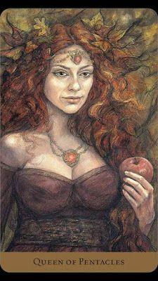 Roda de Tarot: Carta do Dia: Rainha de Ouros