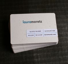 Letterpress Business Card: Moretz (front) by smokeproof, via Flickr