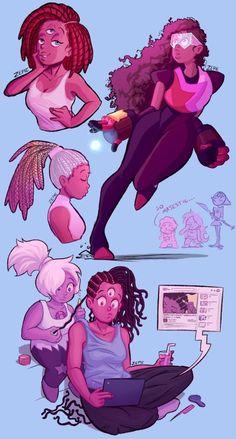 Ooooooh alternate hair styles for Garnet!♡- Moony