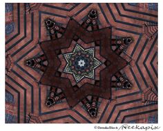 Red Black Gray Mandala Abstract Photography Wall Art by Neekapix, $15.00