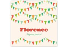 Geboortekaartje Florence - Kaartjes en Co