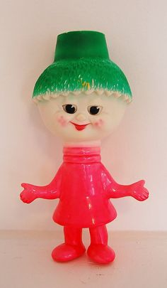 Anthropomorphic Rubber Squeak Toy Vegetable by SeeDollyRun on Etsy