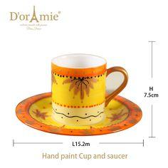 tea cup and saucer holder, custom printed porcelain tea cups and saucers Painted Cups, Hand Painted, Cup And Saucer, Tea Cups, Porcelain, Canning, Mugs, Printed, Tableware