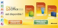 Microsoft Office 2010 est disponible !