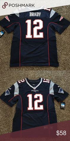 New England Patriots Men's Tom Brady Jersey 🏈 Brand new with tags New England Patriots blue men's jersey with Tom Brady sizes 40( Medium),44(Large). Ships same business day!!! Check out our other jerseys!!! Nike Other