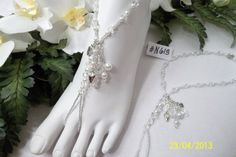 Barefoot Sandals  WEDDING COLLECTION Foot Jewelry by BeDazzledShop, $18.00