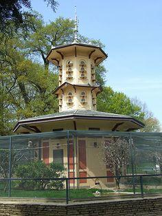 La volière du jardin du Thabor - Rennes. architecte Jean-Baptiste Martenot