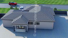 Split Level House Plans, Square House Plans, Metal House Plans, Free House Plans, My Building, Building Plans, Architect Fees, House Plans South Africa, Adams Homes