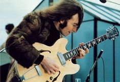 John with his Epiphone Casino, January 30,1969 The rooftop concert. The last time he would play with The Beatles live. 45 years ago today!!!