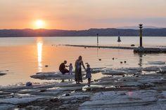 Enjoy a stunning sunset at Lake Garda! Bratislava, Montenegro, Sirmione Lake Garda, Apartments, Celestial, Sunset, Outdoor, Czech Republic, Prague