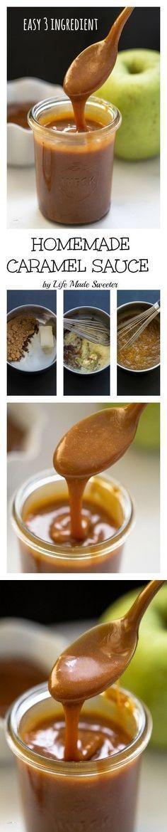 1 cup Brown sugar. 1 pinch Sea salt. 1/2 tsp Vanilla extract, pure. 8 tbsp Butter, unsalted. 10 tbsp Heavy cream. Optional.