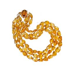 Magnificent Jewels ~ 18 Karat Gold, Citrine and Diamond Necklace, Michele della Valle