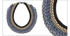 Chevening necklace (climbing rope, fancy rope, and gunmetal chain) Orly Genger by Jaclyn Mayer