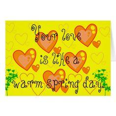Simple Valentine Day Card