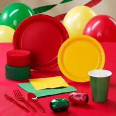 Red, Yellow and Green Party Supplies Nye Party, 50th Party, Party Kit, Baby Party, Back To School Party, School Parties, Bird Birthday Parties, Birthday Ideas, Dinosaur Birthday