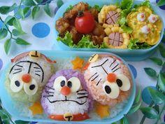 Colorful Doraemon bento
