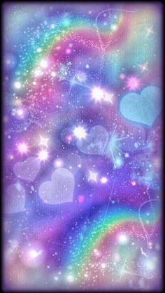 By Artist Unknown. Cocoppa Wallpaper, Unicornios Wallpaper, Rainbow Wallpaper, Wallpaper Iphone Cute, Cellphone Wallpaper, Colorful Wallpaper, Galaxy Wallpaper, Wallpaper Backgrounds, Glitter Background