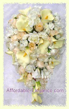 Silk Bridal Bouquets Online   Silk Flower Wedding Bouquets   Silk Wedding Flowers Online