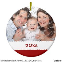 Christmas Dated Photo Ornament
