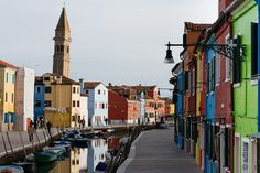 The most charming island in the world - Burano Buildings, Street View, Island, City, World, Islands, Cities, The World