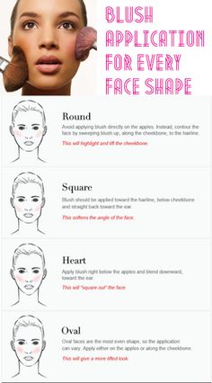 Trick to applying blush to every face shape - Contouring Round Face - Contouring Face Contouring, Contour Makeup, Contouring And Highlighting, Skin Makeup, Blush Makeup, Contour Face, Cheek Makeup, Bridal Makeup, Beauty Make Up
