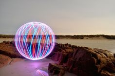 Light Painting: Colourful neon lights brighten up dark landscapes | Creative Boom
