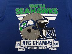 24c50f8653b Vintage SEAHAWKS Shirt 1988 DIY/ 80's Seattle by sweetVTGtshirt Seattle  Football, Seahawks Football,