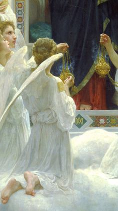'The Virgin with Angels' detail, 1900, William Bouguereau