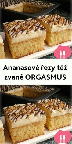 Juicy pineapple cake with cream - Kuchen - French Pineapple Cake, French Food, Tiramisu, Baking Recipes, Banana Bread, Low Carb, Pie, Sweets, Cream