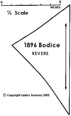 Rever Pattern Piece: Ladies' Bodice with Bolero Front, 1896