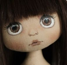 ♔ How to make Unique Dolls Doll Face Paint, Doll Painting, Doll Sewing Patterns, Sewing Dolls, Fabric Toys, Doll Eyes, Doll Tutorial, Waldorf Dolls, Doll Head