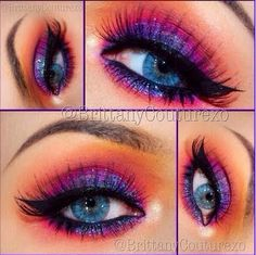 25 Eye-Catching Sparkly Makeup Ideas pretty not sure if I would wear it though