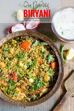 One pot delicious and easy veg biryani prepared using variety of fresh veggies. Healthy and nutritious | watchwhatueat.com