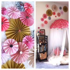 DIY Pinwheels using basic scrapbooking paper and vintage buttons {Sawdust and Embryos}