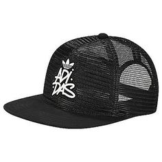 7c365e93ff9e1 New  adidas  originals black mesh trucker snapback cap - one size hat   aj9005