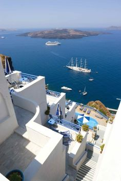 you can't beat that view, Santorini, Greece - I will go here some day!