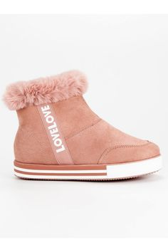Ružové zateplené tenisky Ideal Shoes Ugg Boots, Uggs, Slippers, Shoes, Fashion, Moda, Zapatos, Shoes Outlet, Fashion Styles