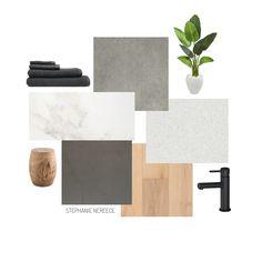 Grey Interior Design, Bathroom Interior Design, Interior Design Boards, Grey Marble Bathroom, Mood Board Interior, Modern Small Bathrooms, Modern Color Schemes, Bathroom Color Schemes, Material Board