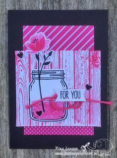 Potjes vol met liefde…. – Jar of Love- Stampin' Up!- Melon Mambo- De Stempelolifant