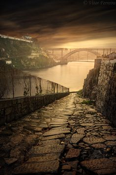 A potential district in the broken world of Obsidian // Porto, Portugal Visit Portugal, Spain And Portugal, Portugal Travel, Porto City, Portuguese Culture, Night Photography, Photos, Pictures, Lisbon