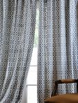 Nairobi Denim Printed Cotton Curtains & Drapes