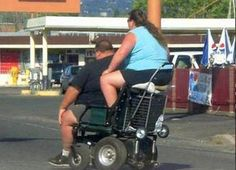 Catching a Ride with My Mans - Funny Pictures at Walmart