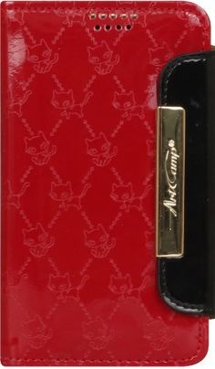 RubyCat(medium) (APAC) Designer Leather Wallet Phone Case. Design compatible with the following smartphones. [SAMSUNG]: