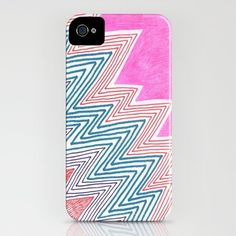 ZagaZag-- by KATE KOSEK  IPHONE CASE / IPHONE (4S, 4)  --$35.00