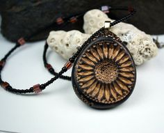 Polymer clay jewelry necklace Beaded necklace by rivervalleydesign, $30.00